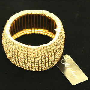NEW for the Holidays Gold Bling Stretch Bracelet